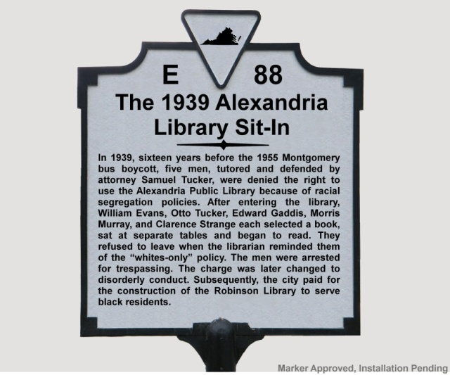 the 1939 alexandria library sit-in e-88