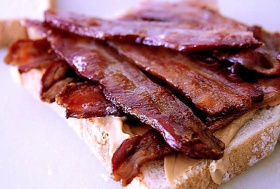 Bacon Peanut Butter Sandwich