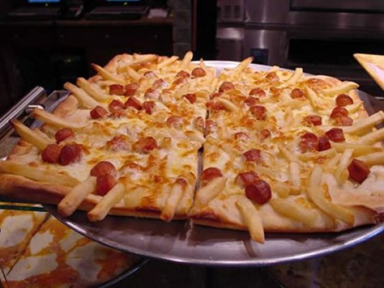 French Fry Hot Dog Pizza